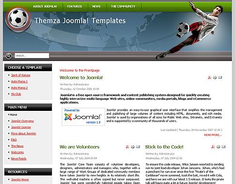 Guía' tema gratuito para joomla 1. 5 diseñado por themza.