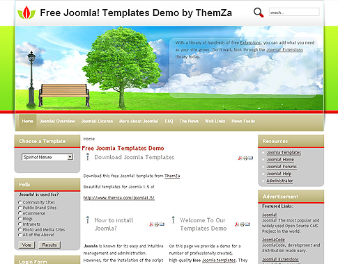 Fresh Air Joomla Template