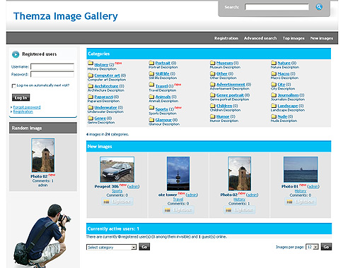 57 Image Photo Gallery CMS