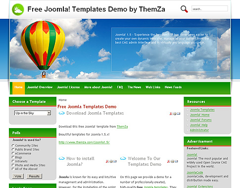 Up in the Sky Joomla Template