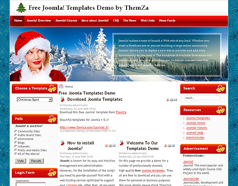 Christmas Spirit Joomla Template