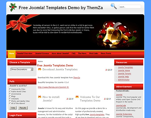 Xmas Decorations Joomla Template
