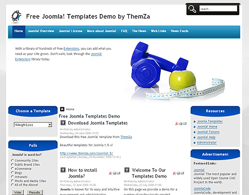 Weight Loss Template for Joomla