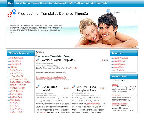Amor reuni o livre joomla 1 5 baseadas projeto tema for Dating site description template