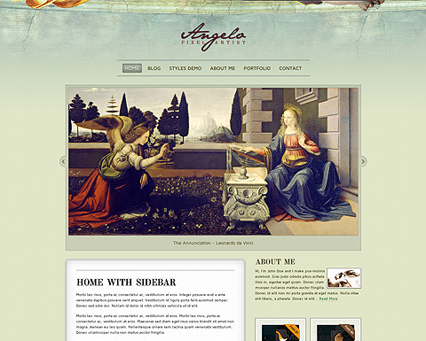 Angelo Art WordPress Template