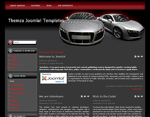 Auto Racing  Site on Free Joomla 1 5 X Templates  Auto Mania 1 By Themza