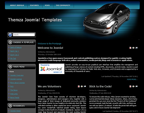 Auto Racing Website Graphics Free on Free Joomla 1 5 X Templates  Auto Mania 2 By Themza