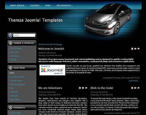 Free joomla 1. 5. X templates: auto mania 2 by themza.