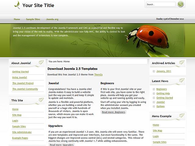 Joomla Vorlagen 2.5 Free Joomla 2.5.x Template