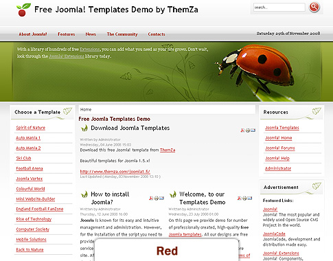 Back to nature joomla ver 2 5 theme for How to upload a template in joomla