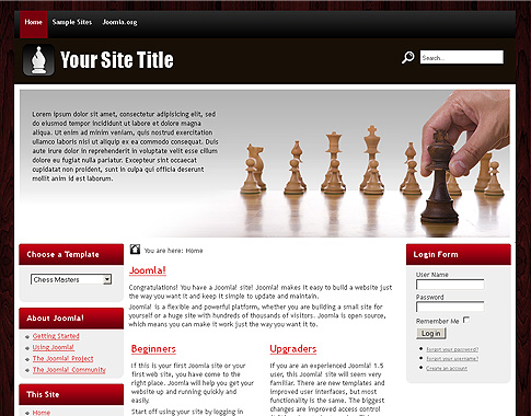 chess masters free joomla 1 7 template from themza