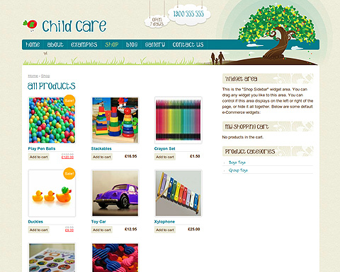 Child Care WordPress Creative Template - Children's newsletter template