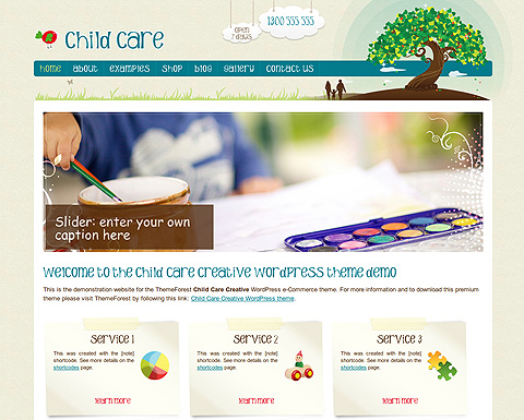 childcare newsletter templates - child care wordpress creative template