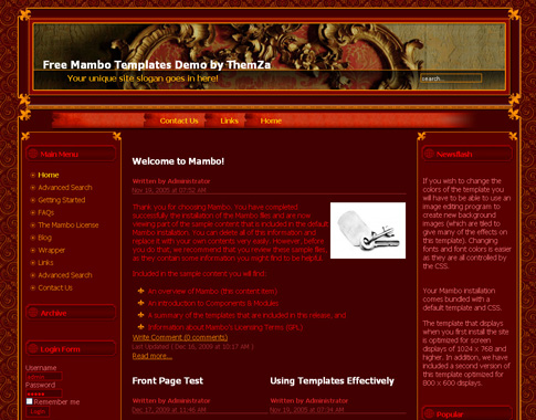 The best choice for web templates: mambo templates: all.