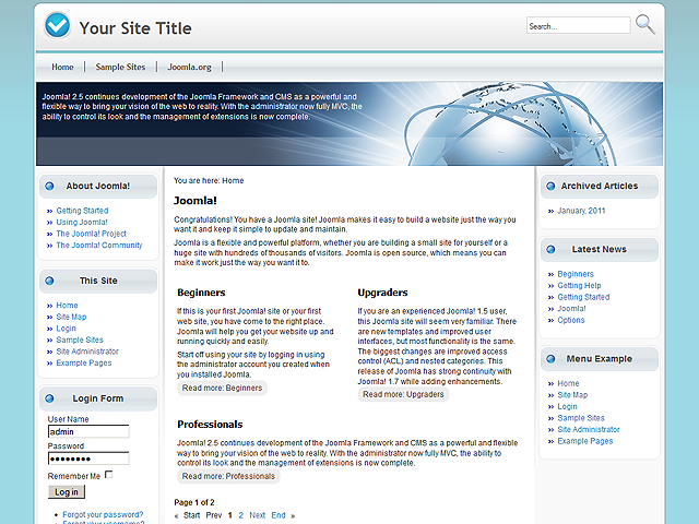 Colourful World free template for Joomla 2.5
