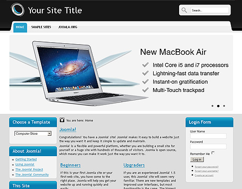 Computer store template free website templates in css, html, js.
