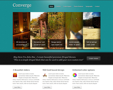 Converge drupal theme for Drupal custom view template