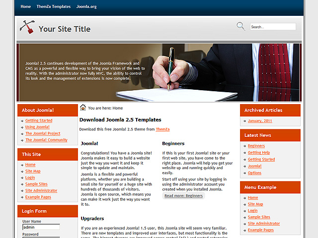 free corporate vision template for joomla 2 5