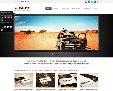 Creative drupal template for Drupal 7 view template