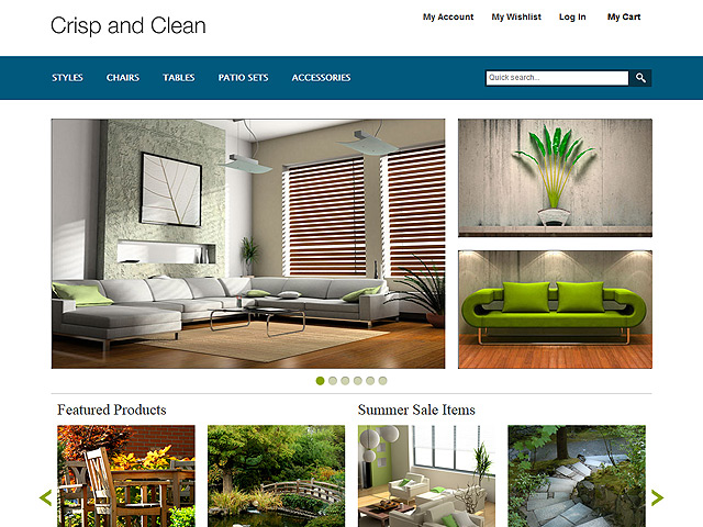 Crisp and Clean Magento Template