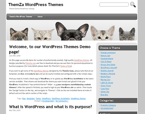Cute Pets WordPress Theme