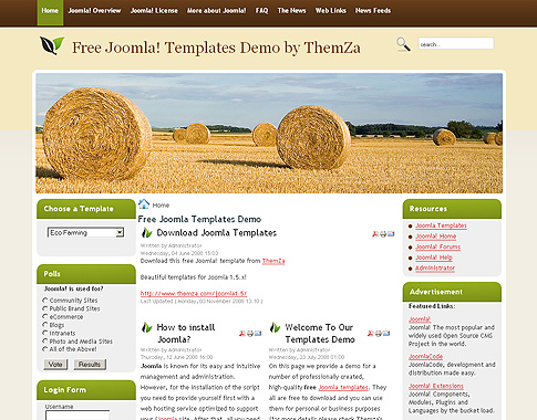 free joomla agriculture template free eco farming free joomla template from themza