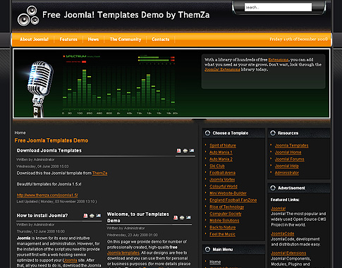 Feel the music template for joomla 1 5