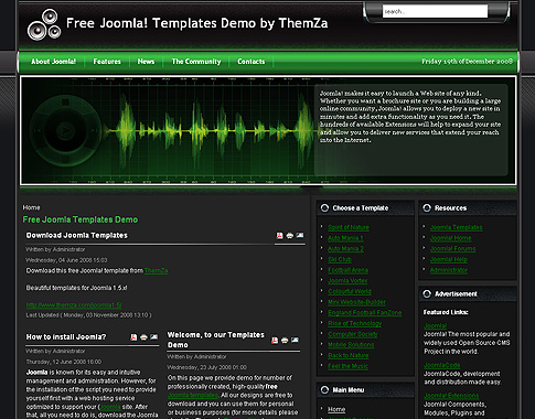 free joomla 1.5.x templates: feel the musicthemza, Powerpoint templates
