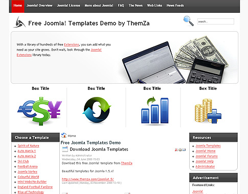 Free Joomla X Templates Financial Calculator By Themza