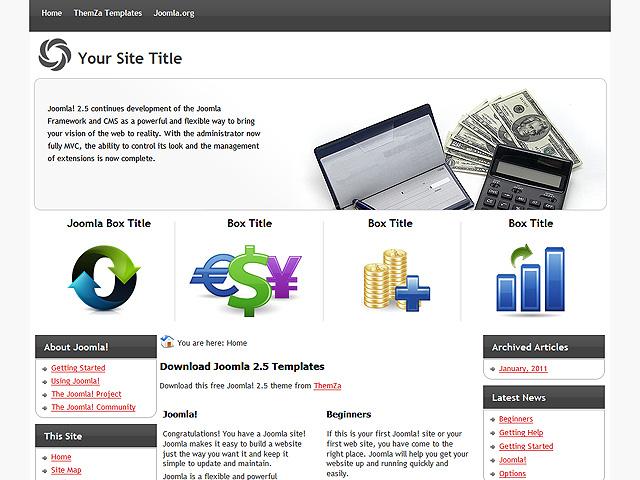 Forex website template joomla