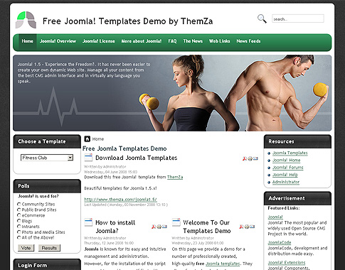 View Demo Download Fitness Mania Template  Fitness Templates Free