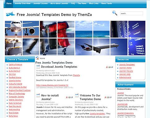 Flight Simulator\' - Free Joomla 1.5 Template by ThemZa