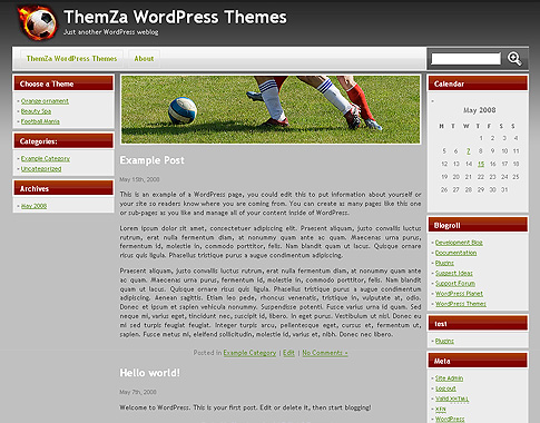 Free WordPress Themes: Football Mania by ThemZa