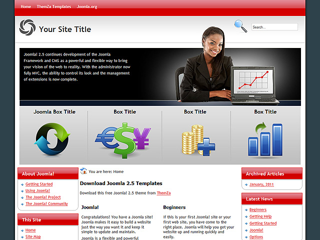 Forex broker website template