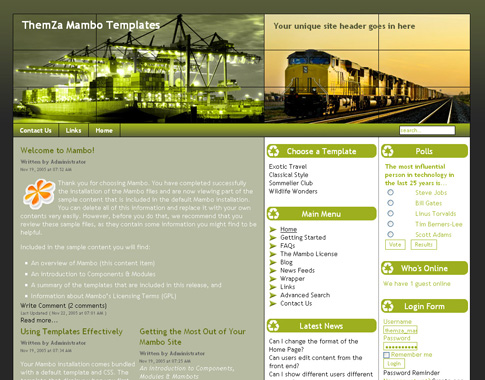 Freight Services Free Mambo Template