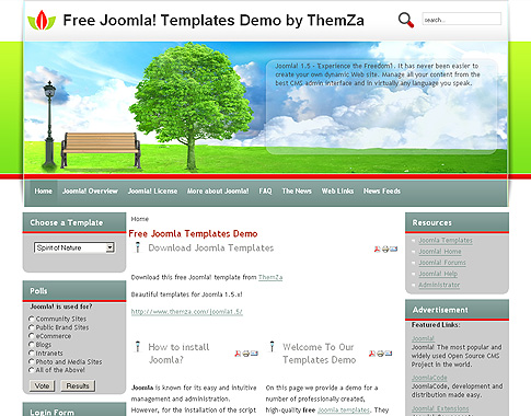 Fresh Air - Free Joomla 1.5 Template by ThemZa
