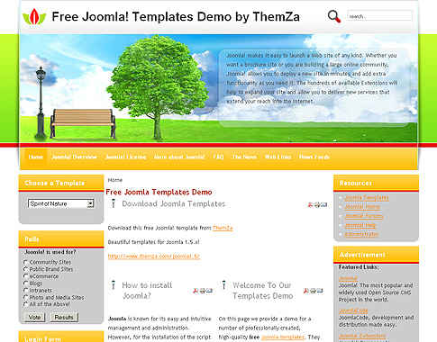 js fresh joomla template free joomla template from fresh air free joomla 1 5 template by themza