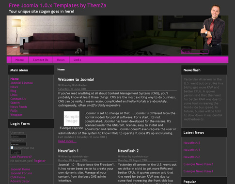 Furniture Design template for Joomla 1.0