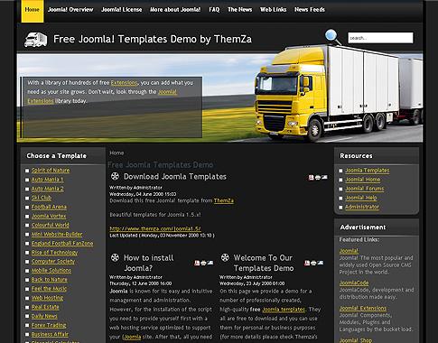Global Logistics Free Joomla 1 5 Template By Themza