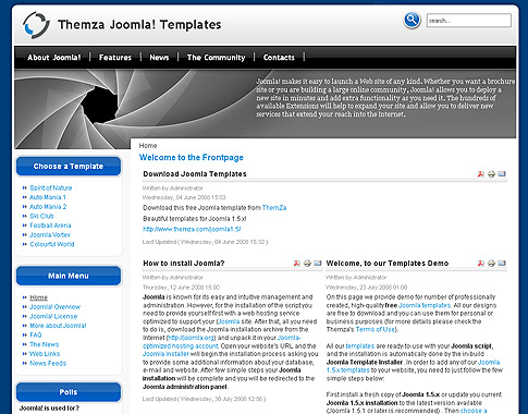 Free joomla 1. 5. X templates: back to nature by themza.