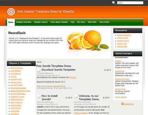 template for joomla 168 with keep it fresh free joomla 1 5 template