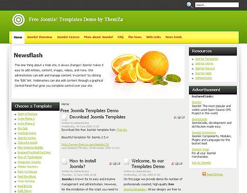 the fresh air joomla 1 keep it fresh free joomla 1 5 template