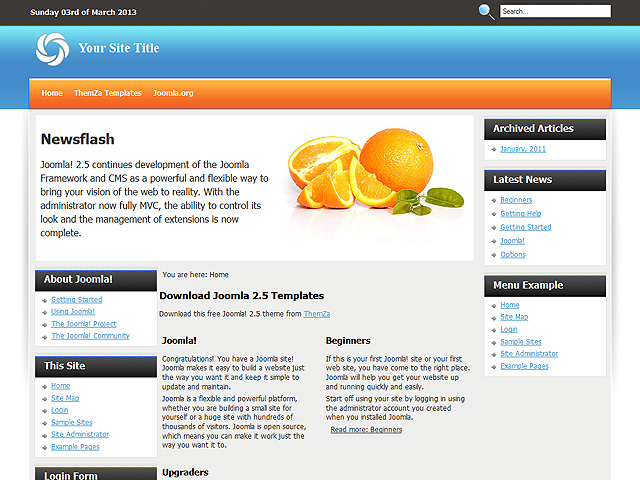 how to upload a template in joomla - joomla 2 5 theme keep it fresh by