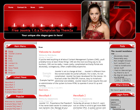 Free Joomla Dating Love Sexy Web Theme Template