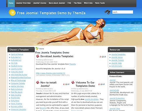 nouvelles joomla 3 modèle installer