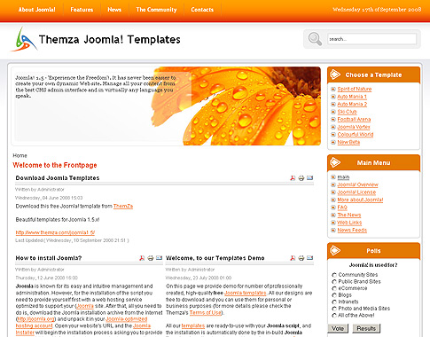 Free Joomla 1.5.x Templates: Mini Website-Builder by ThemZa