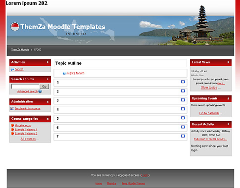 free moodle themes miracles of indonesia by themza