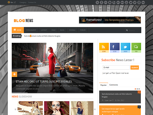 News Magazine Joomla 25 Template