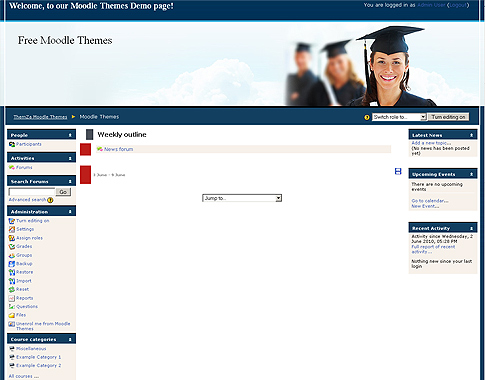 28+ [ Moodle Templates ]   Moodle In English Dark Blue Theme Ie 8 ...