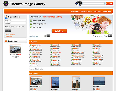 Free 4images Themes: Photo Community by ThemZa